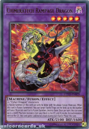 Picture of LEDD-ENB29 Chimeratech Rampage Dragon Ultra Rare 1st Edition Mint YuGiOh Card