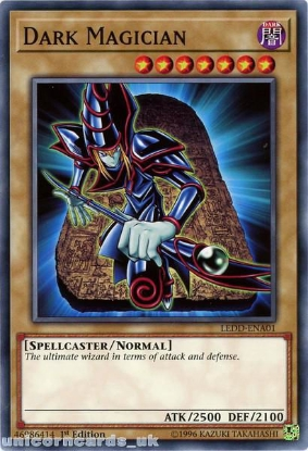Picture of LEDD-ENA01 Dark Magician 1st Edition Mint YuGiOh Card