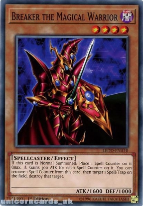 Picture of LEDD-ENA10 Breaker the Magical Warrior 1st Edition Mint YuGiOh Card