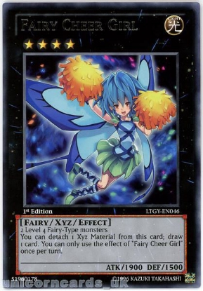 Picture of LTGY-EN046 Fairy Cheer Girl Rare 1st Edition Mint YuGiOh Card