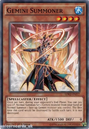 Picture of LDK2-ENJ17 Gemini Summoner 1st edition Mint YuGiOh Card