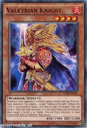 Picture of LDK2-ENJ21 Valkyrian Knight 1st edition Mint YuGiOh Card