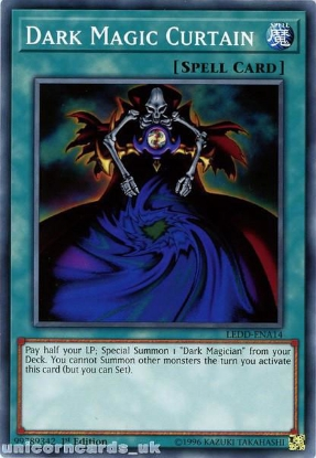 Picture of LEDD-ENA14 Dark Magic Curtain 1st Edition Mint YuGiOh Card