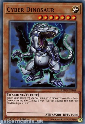Picture of LEDD-ENB08 Cyber Dinosaur 1st Edition Mint YuGiOh Card