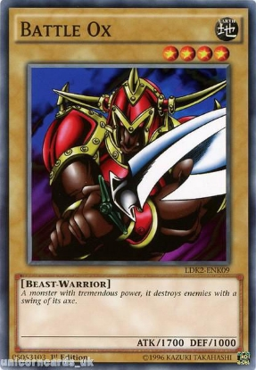 Picture of LDK2-ENK09 Battle Ox 1st edition Mint YuGiOh Card