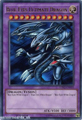 Picture of LDK2-ENK40 Blue-Eyes Ultimate Dragon Ultra Rare 1st edition Mint YuGiOh Card