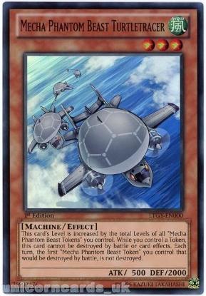Picture of LTGY-EN002 Mecha Phantom Beast Turtletracer Super Rare 1st Edition Mint YuGiOh Card