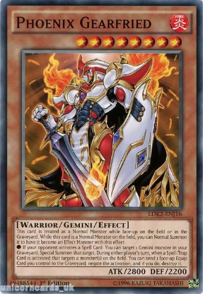 Picture of LDK2-ENJ16 Phoenix Gearfried 1st edition Mint YuGiOh Card