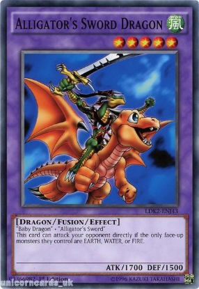 Picture of LDK2-ENJ43 Alligator's Sword Dragon 1st edition Mint YuGiOh Card