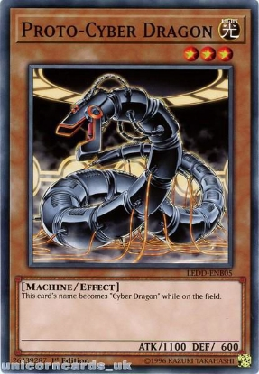 Picture of LEDD-ENB05 Proto-Cyber Dragon 1st Edition Mint YuGiOh Card