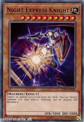 Picture of LED4-EN040 Night Express Knight 1st Edition Mint YuGiOh Card