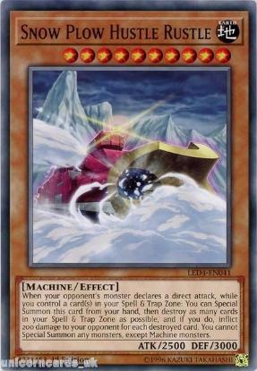 Picture of LED4-EN041 Snow Plow Hustle Rustle 1st Edition Mint YuGiOh Card