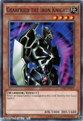 Picture of LDK2-ENJ12 Gearfried the Iron Knight 1st edition Mint YuGiOh Card