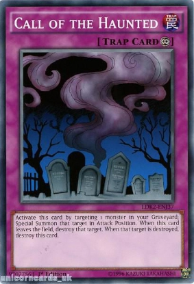 Picture of LDK2-ENJ37 Call of the Haunted 1st edition Mint YuGiOh Card