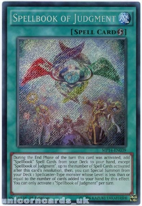 Picture of MP14-EN039 Spellbook of Judgment Secret Rare 1st Edition Mint YuGiOh Card