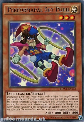 Picture of MACR-EN002 Performapal Sky Pupil Rare UNL Edition Mint YuGiOh Card