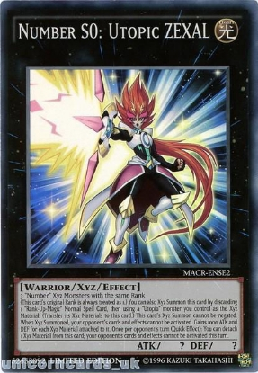 Picture of MACR-ENSE2 Number S0: Utopic ZEXAL Super Rare Limited Edition Mint YuGiOh Card!