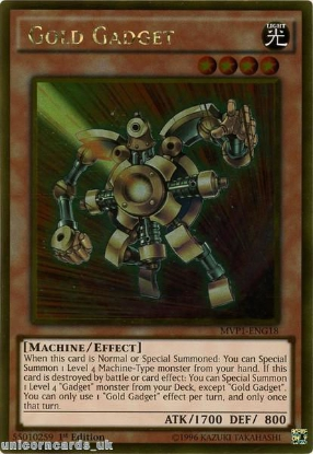 Picture of MVP1-ENG18 Gold Gadget Gold Rare 1st Edition Mint YuGiOh Card