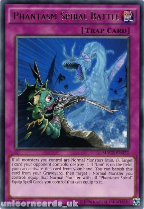 Picture of MACR-EN072 Phantasm Spiral Battle Rare UNL Edition Mint YuGiOh Card
