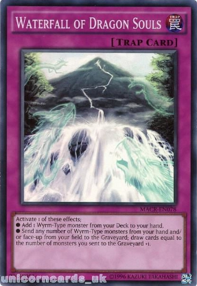 Picture of MACR-EN078 Waterfall of Dragon Souls Super Rare UNL Edition Mint YuGiOh Card