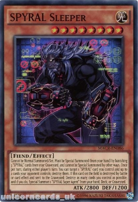 Picture of MACR-EN086 SPYRAL Sleeper Super Rare UNL Edition Mint YuGiOh Card