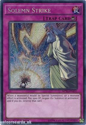 Picture of MP16-EN231 Solemn Strike Secret Rare 1st Edition Mint YuGiOh Card