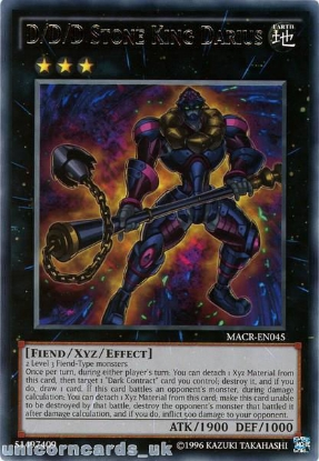 Picture of MACR-EN045 D/D/D Stone King Darius Rare UNL Edition Mint YuGiOh Card