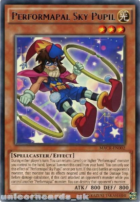 Picture of MACR-EN002 Performapal Sky Pupil Rare 1st Edition Mint YuGiOh Card