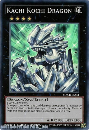 Picture of MACR-ENSE1 Kachi Kochi Dragon Super Rare Limited Edition Mint YuGiOh Card!