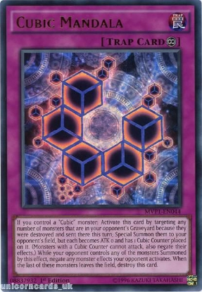 Picture of MVP1-EN044 Cubic Mandala Ultra Rare 1st edition Mint YuGiOh Card