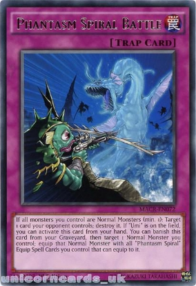 Picture of MACR-EN072 Phantasm Spiral Battle Rare 1st Edition Mint YuGiOh Card