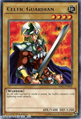 Picture of MIL1-EN026 Celtic Guardian Rare 1st edition Mint YuGiOh Card