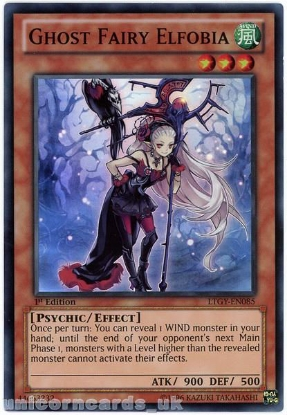 Picture of LTGY-EN085 Ghost Fairy Elfobia Super Rare 1st Edition Mint YuGiOh Card