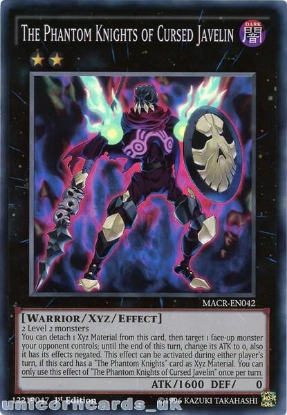 Picture of MACR-EN042 The Phantom Knights of Cursed Javelin Super Rare 1st Edition Mint YuGiOh Card