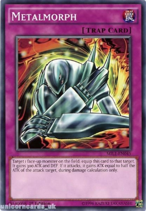 Picture of MIL1-EN045 Metalmorph 1st edition Mint YuGiOh Card