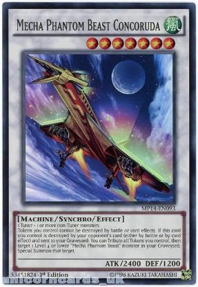 Picture of MP14-EN093 Mecha Phantom Beast Concoruda Super Rare 1st Edition Card