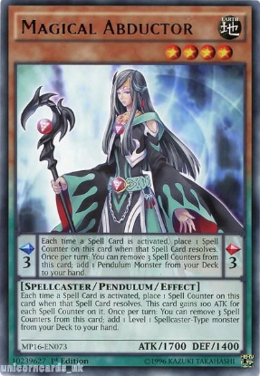 Picture of MP16-EN073 Magical Abductor Rare 1st Edition Mint YuGiOh Card