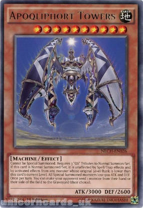 Picture of NECH-EN026 Apoqliphort Towers Rare 1st Edition Mint YuGiOh Card