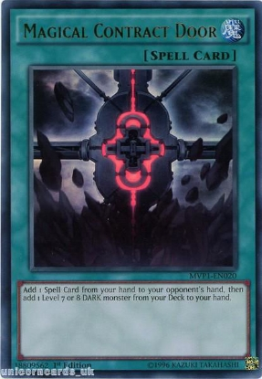 Picture of MVP1-EN020 Magical Contract Door Ultra Rare 1st edition Mint YuGiOh Card