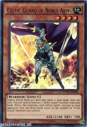 Picture of MVP1-EN048 Celtic Guard of Noble Arms Ultra Rare 1st edition Mint YuGiOh Card