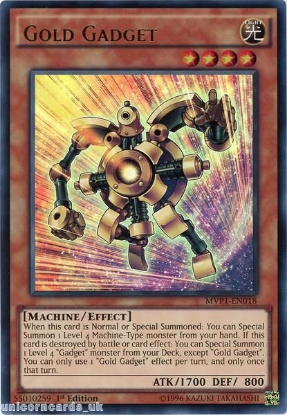 Picture of MVP1-EN018 Gold Gadget Ultra Rare 1st edition Mint YuGiOh Card