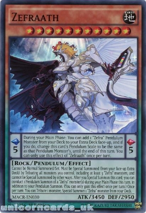 Picture of MACR-EN030 Zefraath Super Rare 1st Edition Mint YuGiOh Card