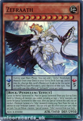 Picture of MACR-EN030 Zefraath Super Rare UNL Edition Mint YuGiOh Card