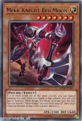 Picture of MP18-EN181 Mekk-Knight Red Moon Rare 1st Edition Mint YuGiOh Card
