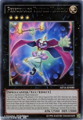 Picture of MP16-EN080 Performage Trapeze Magician Rare 1st Edition Mint YuGiOh Card