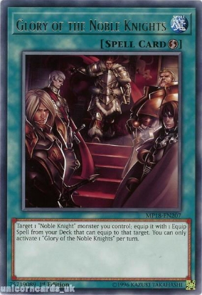 Picture of MP18-EN207 Glory of the Noble Knights Rare 1st Edition Mint YuGiOh Card