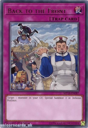 Picture of MP18-EN087 Back to the Front Rare 1st Edition Mint YuGiOh Card