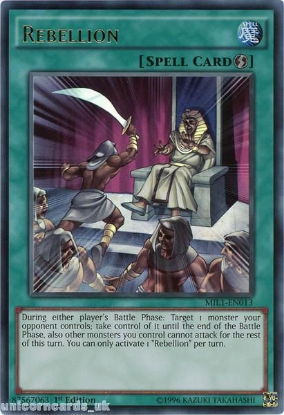 Picture of MIL1-EN013 Rebellion Ultra Rare 1st edition Mint YuGiOh Card