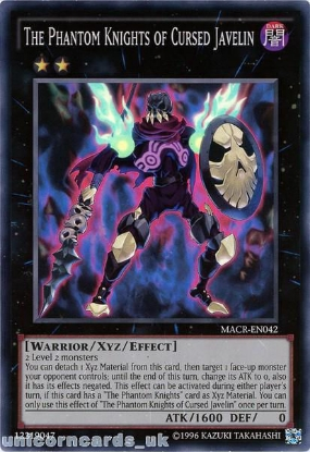 Picture of MACR-EN042 The Phantom Knights of Cursed Javelin Super Rare UNL Edition Mint YuGiOh Card