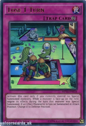 Picture of MP16-EN034 Lose 1 Turn Ultra Rare 1st Edition Mint YuGiOh Card